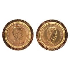 Pair of Gold Coin Cufflinks