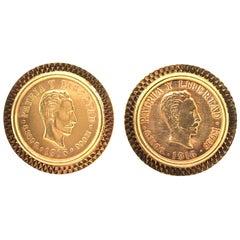 Pair of Gold Cuban Coin Cufflinks