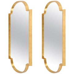 Pair of Gold Leaf Mirrors, Large