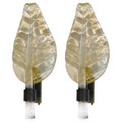 Pair of Gold Leaf Sconces by Fabio Ltd