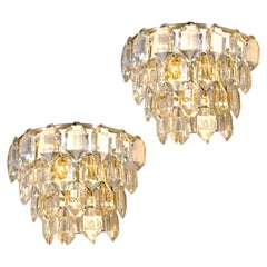 Pair of Gold-Plated Bakalowits Wall Sconces, 1960