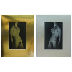 Pair of Gold & Silver Male Nude Original Photographs By George Machado