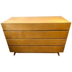 Pair of Golden Birch Mid-Century Modern Swedish Dressers