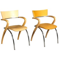 "Pair of ""Golf"" Chairs by Francesco Zaccone"