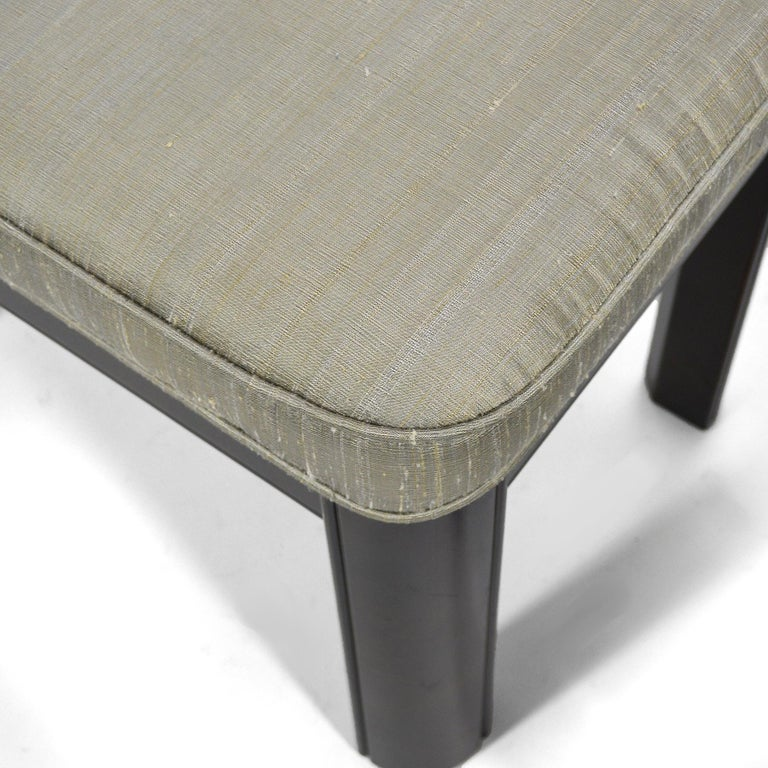 Late 20th Century Pair of Gordon's Stools Upholstered in Silk For Sale