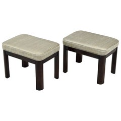 Pair of Gordon's Stools Upholstered in Silk