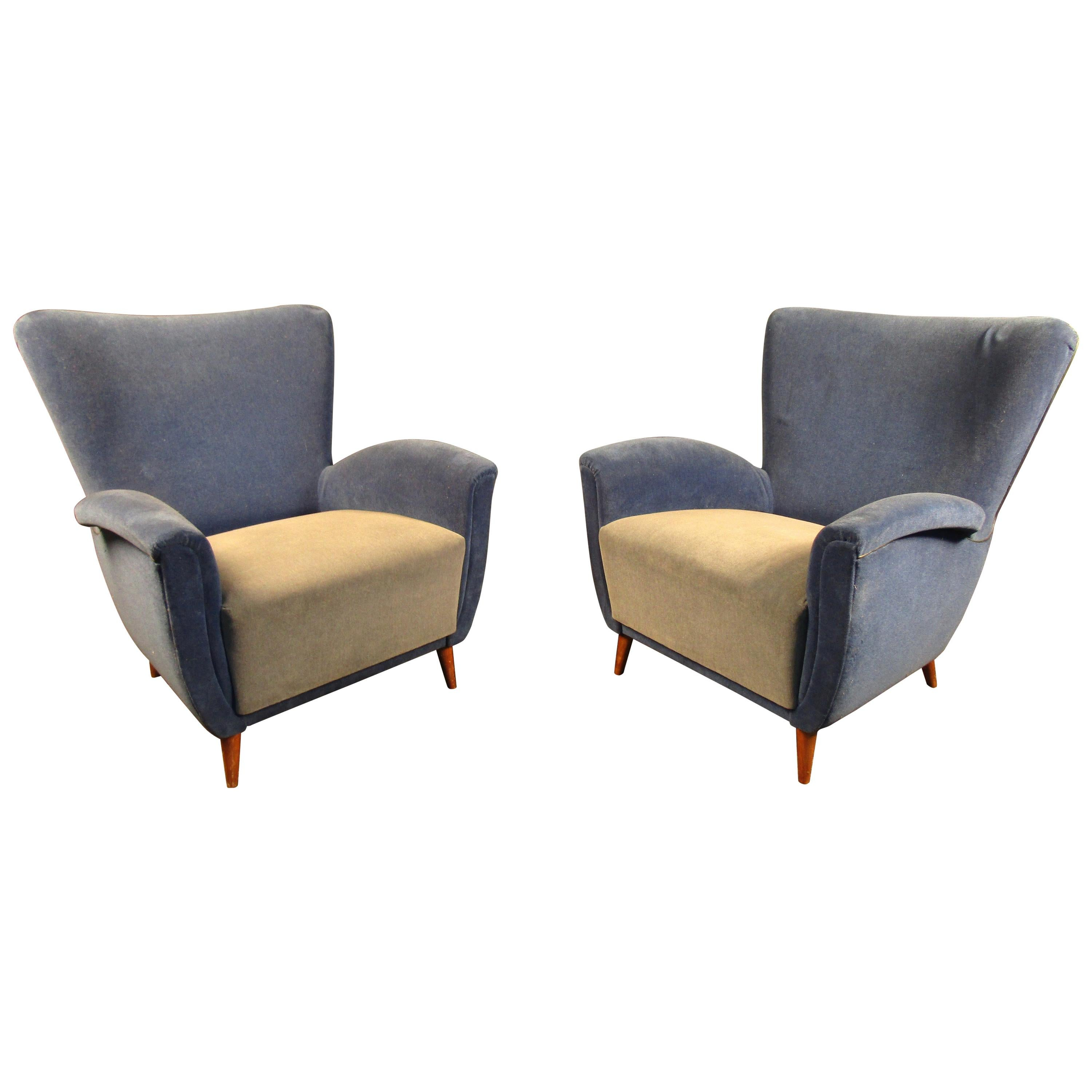 Pair of Gorgeous Italian Lounge Chairs