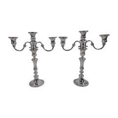 Pair of Gorham Classical Sterling Silver 3-Light Candelabra