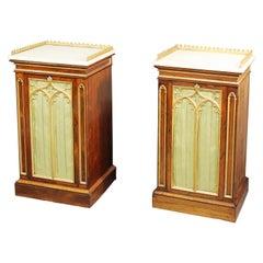 Pair of Gothic Pedestal Cupboards