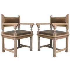 Pair of Gothic Revival Armchairs