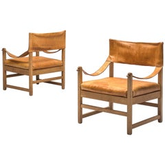 Pair of Grand French Lounge Chairs
