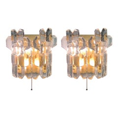 "Pair of Grand J.T. Kalmar ""Palazzo"" Wall Sconces, Vienna, 1960s"