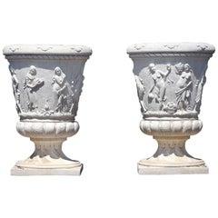 Pair of Neoclassical Garden Urns