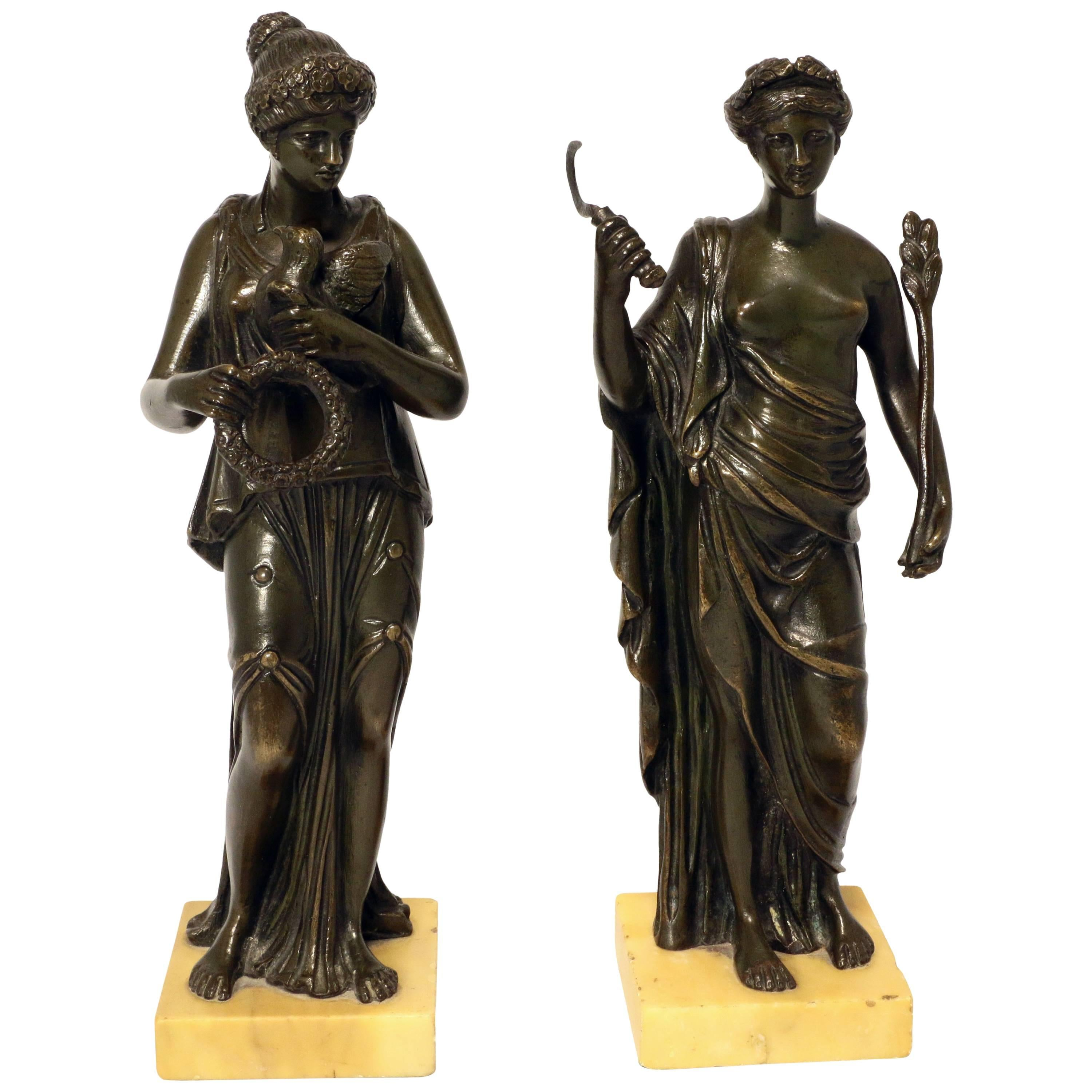 Pair of Grand Tour Bronze Figures after the Antique