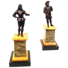 Pair of Grand Tour Bronze Figures Italian, circa 1850