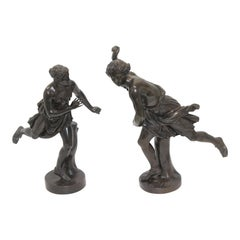 Pair of Grand Tour Bronzes of Atalanta and Hippomenes