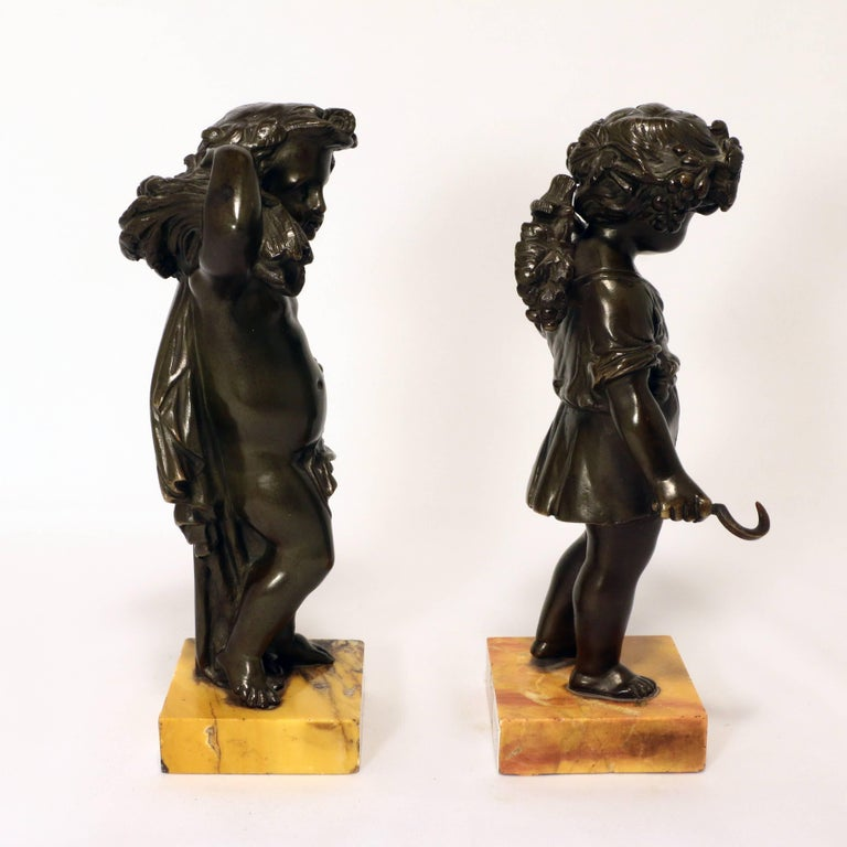 Italian Pair of Grand Tour Bronze Putti For Sale