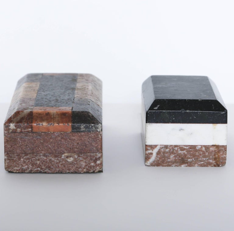 Italian Pair of Grand Tour Marble Specimen Paperweights, Italy, 19th Century For Sale