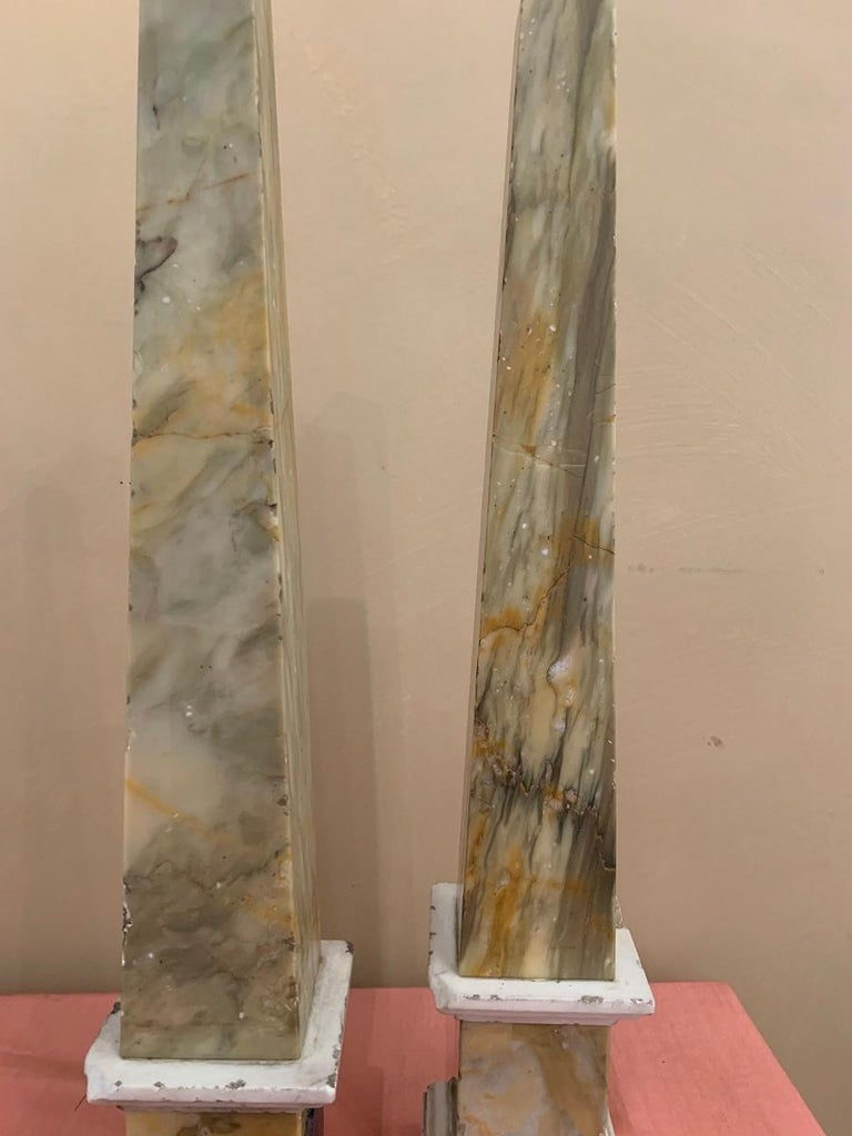 Pair of Grand Tour Obelisks For Sale 2