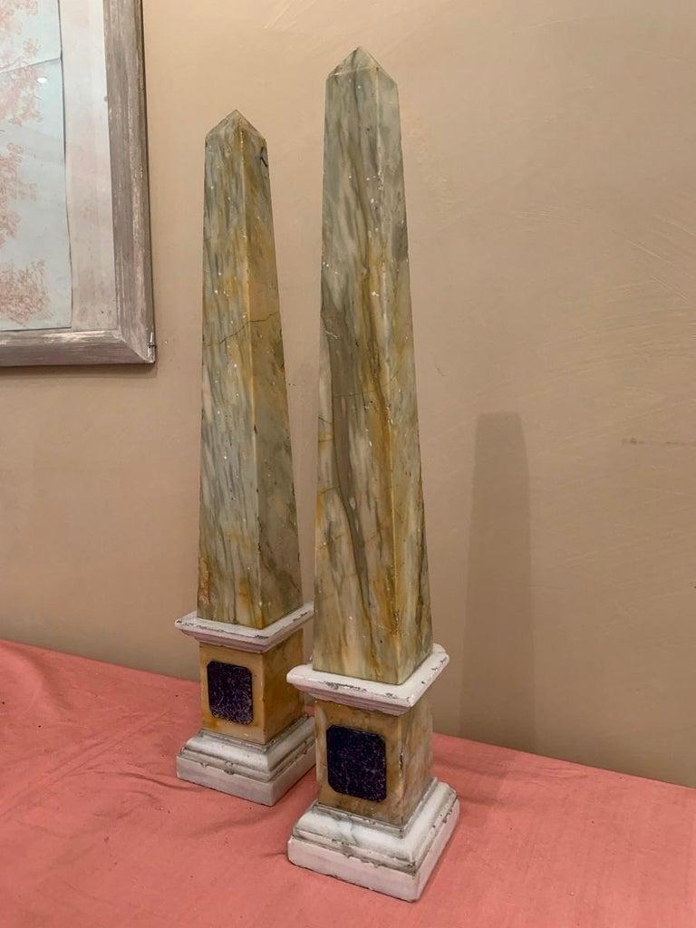 Pair of Grand Tour Obelisks For Sale 3