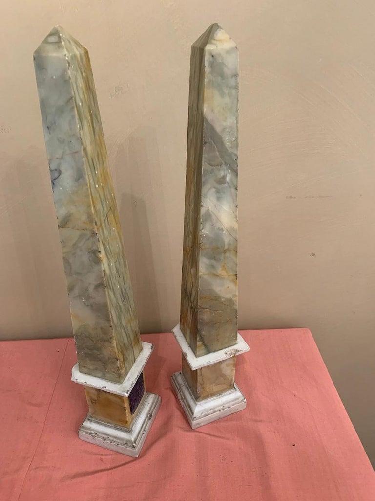 Pair of Grand Tour Obelisks For Sale 1