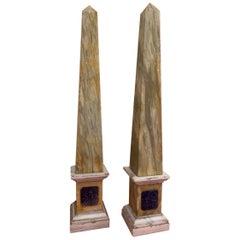 Pair of Grand Tour Obelisks
