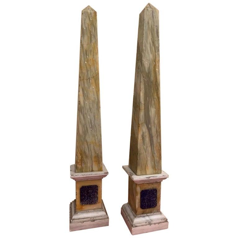 Pair of Grand Tour Obelisks For Sale