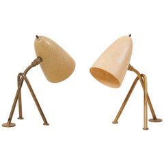 "Pair of ""Grasshopper"" Table Lamps by Greta Grossman for Ralph O. Smith, US 1950s"