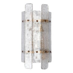 Pair of Greca Murano Glass Wall Sconces 'US Specification'