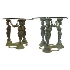 Pair of Greco Roman Style Occasional Tables