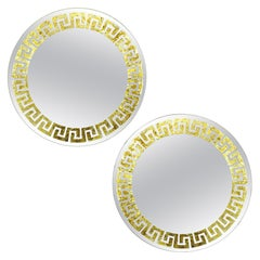 Pair of Greek Key Mirrors by David Marshall