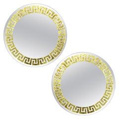 Pair of Greek Key Mirrors by David Marshall