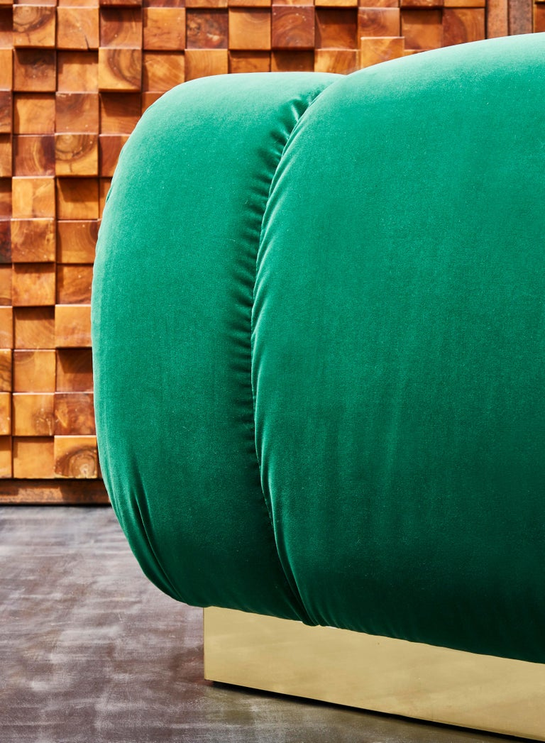 Contemporary Pair of Green Armchairs by Studio Glustin For Sale