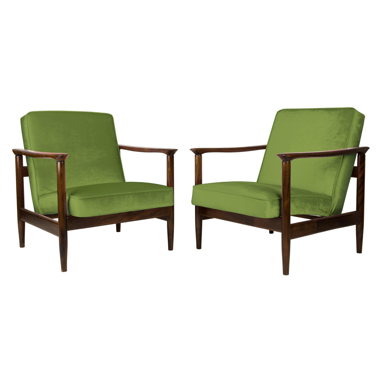 Pair of Green Armchairs, Edmund Homa, GFM-142, 1960s, Poland