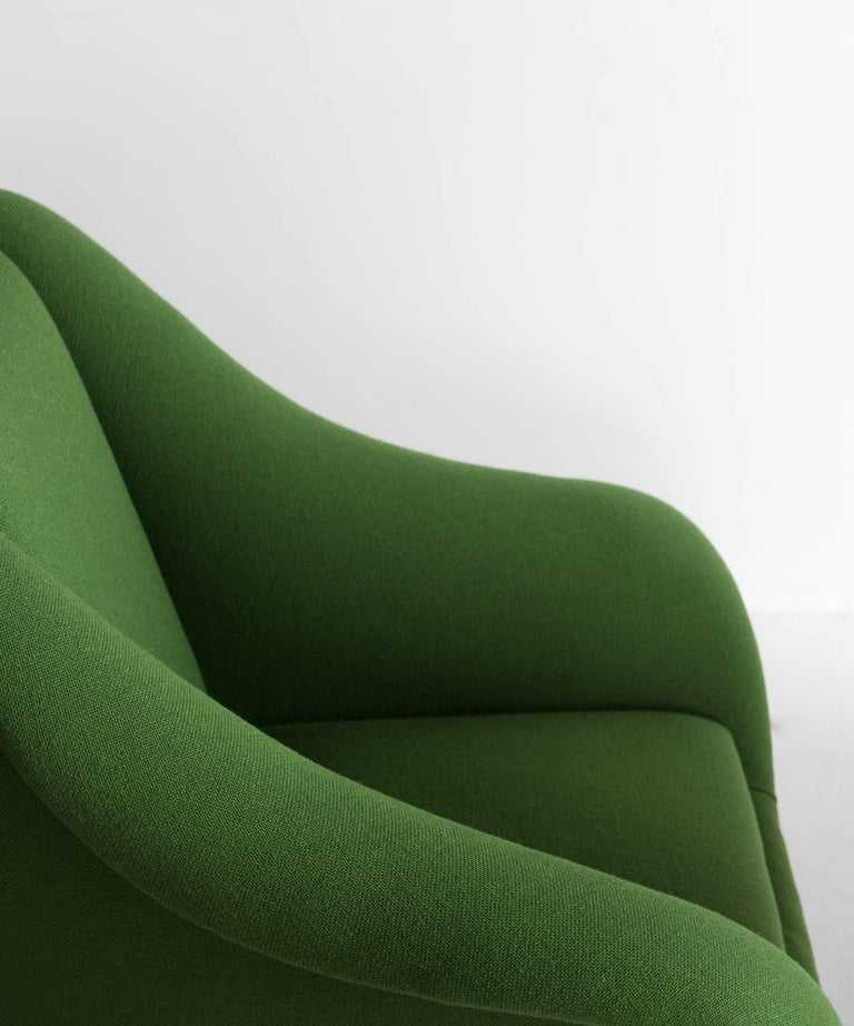 Mid-20th Century Pair of Green Armchairs, circa 1960 For Sale