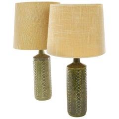 Pair of Green DL/27 Table Lamps by Linnemann-Schmidt for Palshus, 1960s