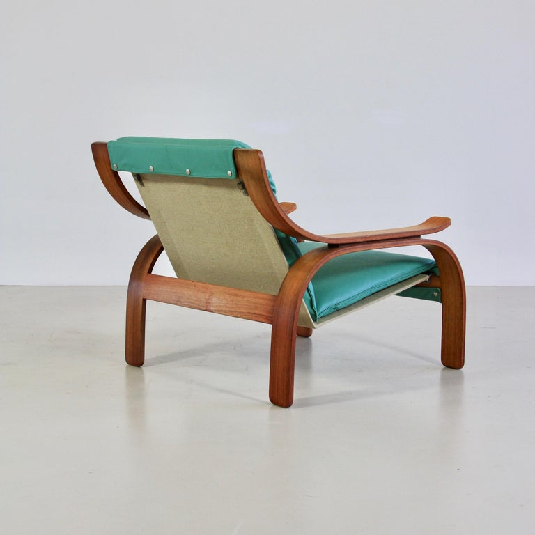 Pair of Green Leather Armchairs by Marco Zanuso, 1964 In Good Condition For Sale In Berlin, Berlin