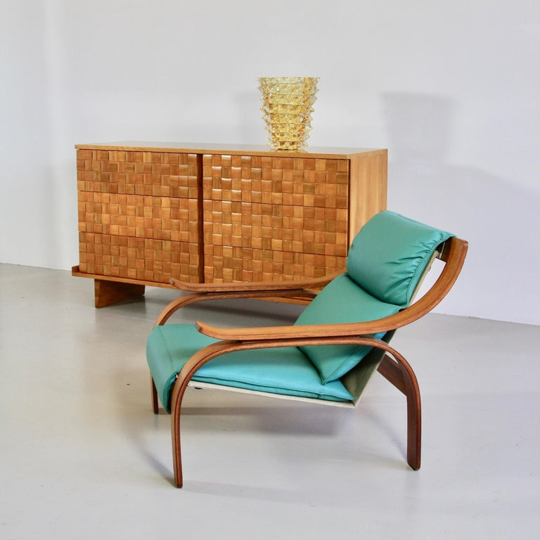 Pair of Green Leather Armchairs by Marco Zanuso, 1964 For Sale 3