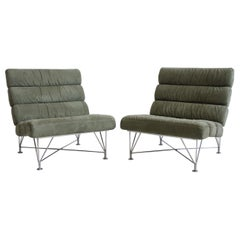 Pair of Green Lounge Chairs by DUX Design Team