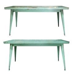 Pair of Green Metal Tables