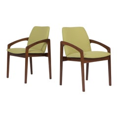 Pair of Green Midcentury Modern Armchairs