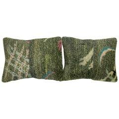 Pair of Green Turkish Deco Pillows