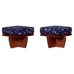 Pair of Greenrock Ottomans by George Nakashima, US 2021