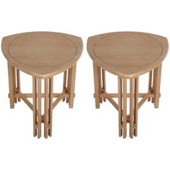 Pair of Gregg Lipton Prairie School Side or End Tables