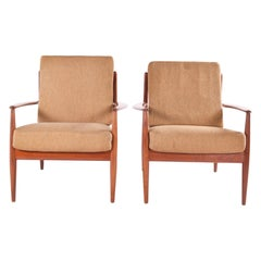 Pair of Grete Jalk Armchairs by France and Son, 1960s
