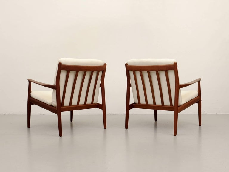 Teak Pair of Svend Aage Eriksen Easy Chairs, Denmark, 1960s For Sale