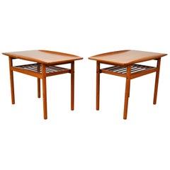 Pair of Grete Jalk for Poul Jeppesen Teak Side Tables