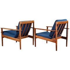 Pair of Grete Jalk Rosewood Armchairs