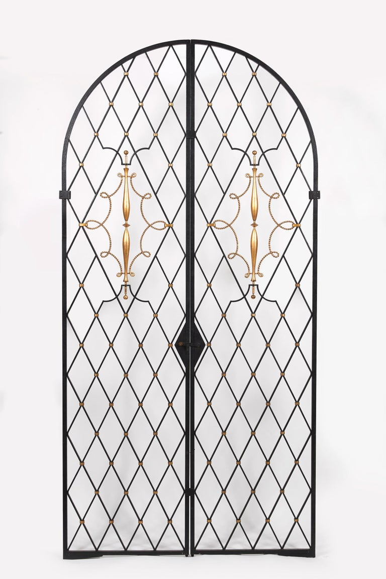 French Door by Gilbert Poillerat, circa 1930 For Sale
