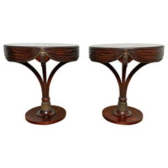 Pair of Grosfeld House 'Attributed' Draped Lamp Tables, circa 1940s